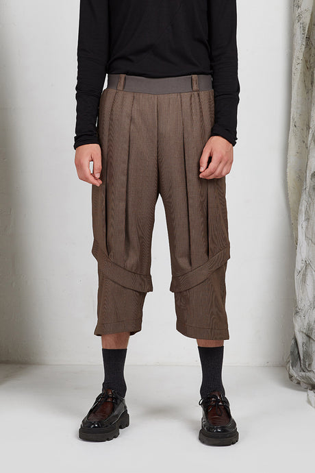 wide leg unisex tailored pant with stretch waist