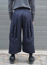 Load image into Gallery viewer, Unisex wide leg tailored ankle length pant in Italian wool