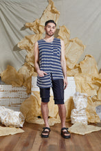 Load image into Gallery viewer, S/S 20 RAI REVERSIBLE TANK TOP - AEGEAN STRIPE