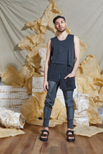 Load image into Gallery viewer, S/S 20 RAI REVERSIBLE TANK TOP - CHARCOAL MARLE