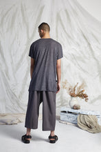 Load image into Gallery viewer, REMI DRAPE SPLIT TOP - CHARCOAL