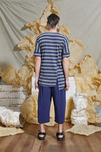 Load image into Gallery viewer, S/S 20 TERRIN SPLIT SHIRT - AEGEAN STRIPE