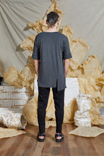 Load image into Gallery viewer, S/S 20 TERRIN SPLIT SHIRT - CHARCOAL MARLE