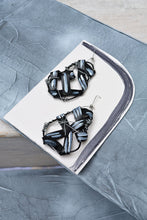 Load image into Gallery viewer, TWIST EARRINGS  - JET ASH MEDIUM
