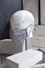 Load image into Gallery viewer, ORIGAMI MASK - DENIM SQUIGGLE LINEN