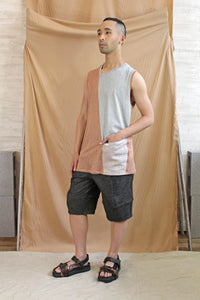 Ethical Melbourne Made Mens Linen Tank