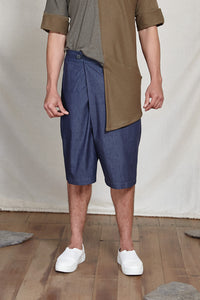 TOMO FOLD SHORTS - DENIM