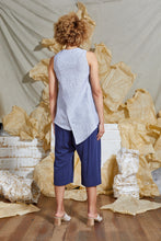 Load image into Gallery viewer, Asymmetrical Linen Tank Top