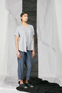 Womens Asymmetrical Flare Top
