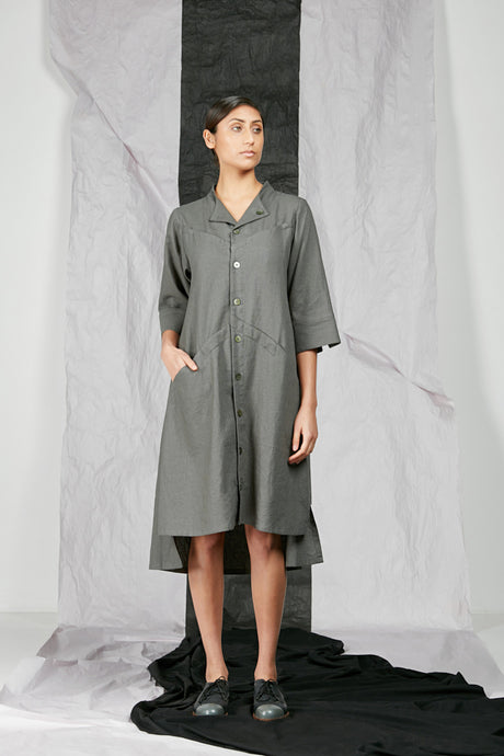 Women's Unisex Linen Shirt Dress