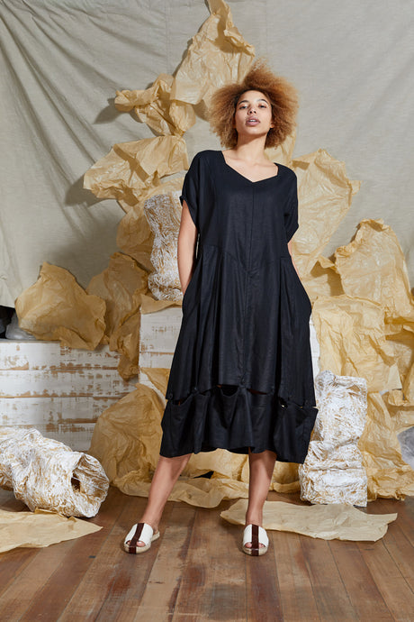 Ethical Black Linen Dress