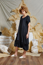 Load image into Gallery viewer, Ethical Black Linen Dress
