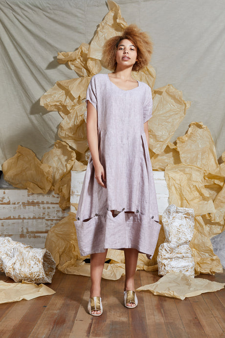 S/S 20 CERISE CONVERTIBLE DRESS - ROSE SAND