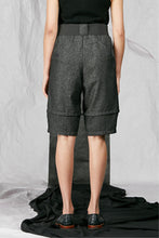 Load image into Gallery viewer, Charcoal Italian Wool Suiting Women's Unisex Shorts