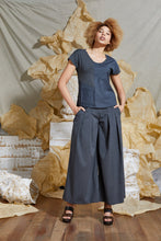 Load image into Gallery viewer, S/S 20 ELENI CAP SLEEVE TOP - DENIM SLATE
