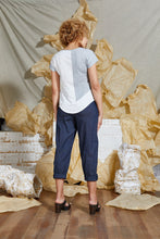 Load image into Gallery viewer, white dove grey cap sleeve top