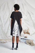 Load image into Gallery viewer, ELIE POCKET COWL DRESS - FRAGMENT MEMOIRS PRINT