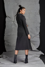 Load image into Gallery viewer, LINEA COWL NECK DRESS - GRAPHITE