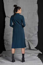 Load image into Gallery viewer, LINEA COWL NECK DRESS - LAGOON