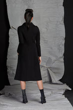 Load image into Gallery viewer, LINEA COWL NECK DRESS - RAVEN