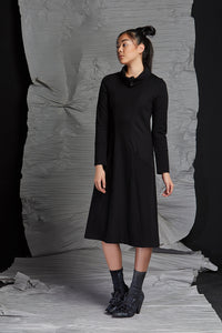 LINEA COWL NECK DRESS - RAVEN