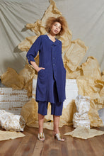 Load image into Gallery viewer, S/S 20 SILVA LONG JACKET - INDIGO