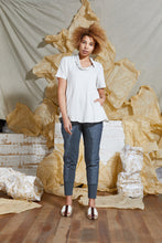 Load image into Gallery viewer, S/S 20 TAHLIA FLARE TOP - IVORY MARLE