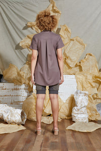 S/S 20 TAHLIA FLARE TOP - ROSE TAUPE