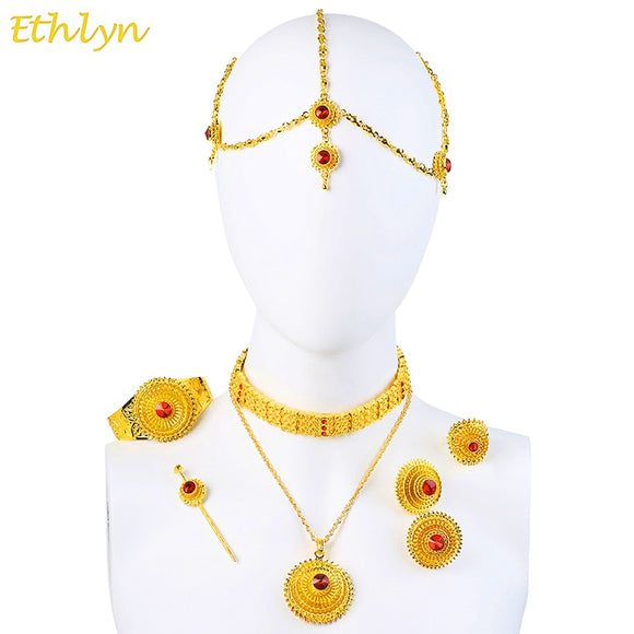 Luxury Ethiopian Eritrean Traditional Jewelry Choker Sets