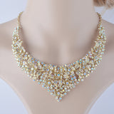 Crystal Womens Wedding Jewelry Set