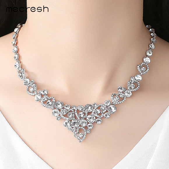 Rhinestone Crystal Heart Bridal Jewelry Sets