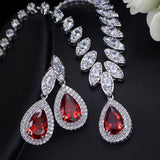 CZ Wedding Jewelry Set