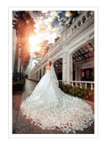 Stunning Flower Cathedral Wedding Dresses