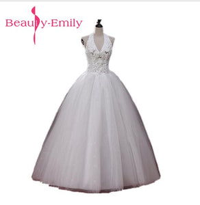Halter A-Line Wedding Dress