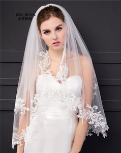 Elbow Length Two Layer Veil