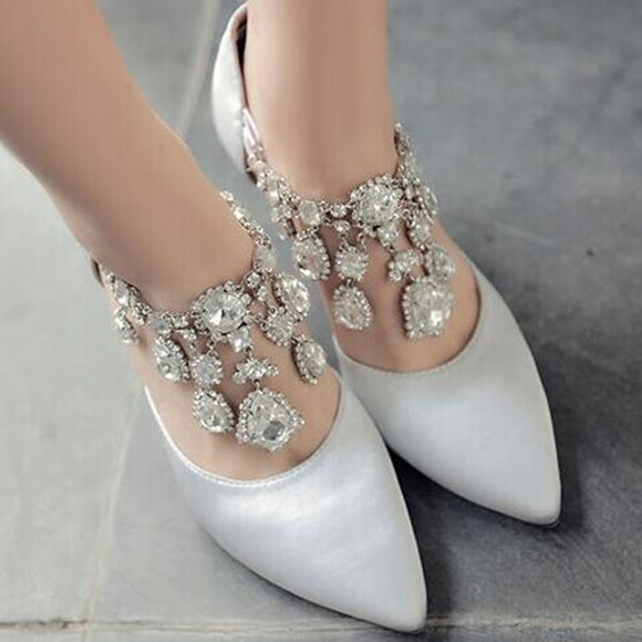 Thin High Heel Womens Wedding Shoes