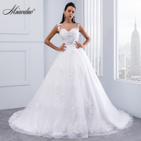 Gorgeous Lace Covered Wedding Ball Gown