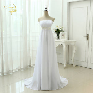 Elegant Empire Waist Strapless Wedding