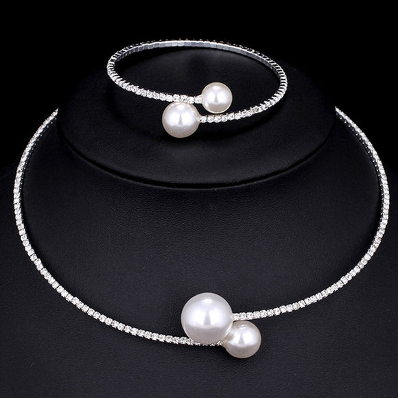 European Choker Wedding Jewelry Set