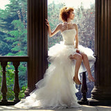 Hi Low strapless Wedding Dress