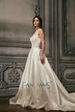 Sweetheart Neckline Satin Wedding Dress