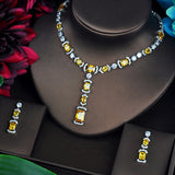 Brilliant Yellow CZ Bridal Jewelry Set