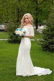 Stunning Mermaid Lace Wedding Gown