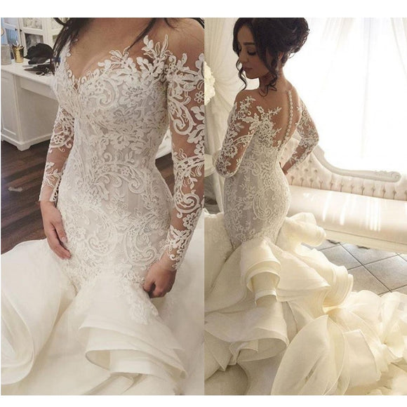 Sexy  Lace Mermaid Wedding Dress