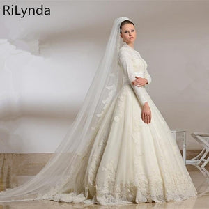 Modest Long Sleeved Wedding Gown