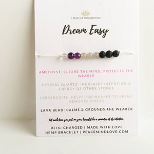 Dream Easy Hemp Infuser Wish Bracelet