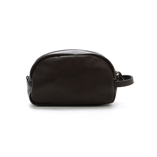 Brown Braden Vegan Leather Dopp Kit, Shaving Kit