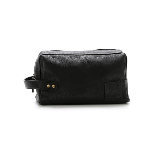 Black Fletcher Vegan Leather Dopp Kit, Shaving Kit