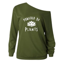 Powered By Plants Off Shoulder Sweatshirt
