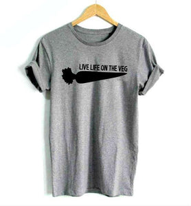 Live Life On The Veg - Vegan Hipster Tee